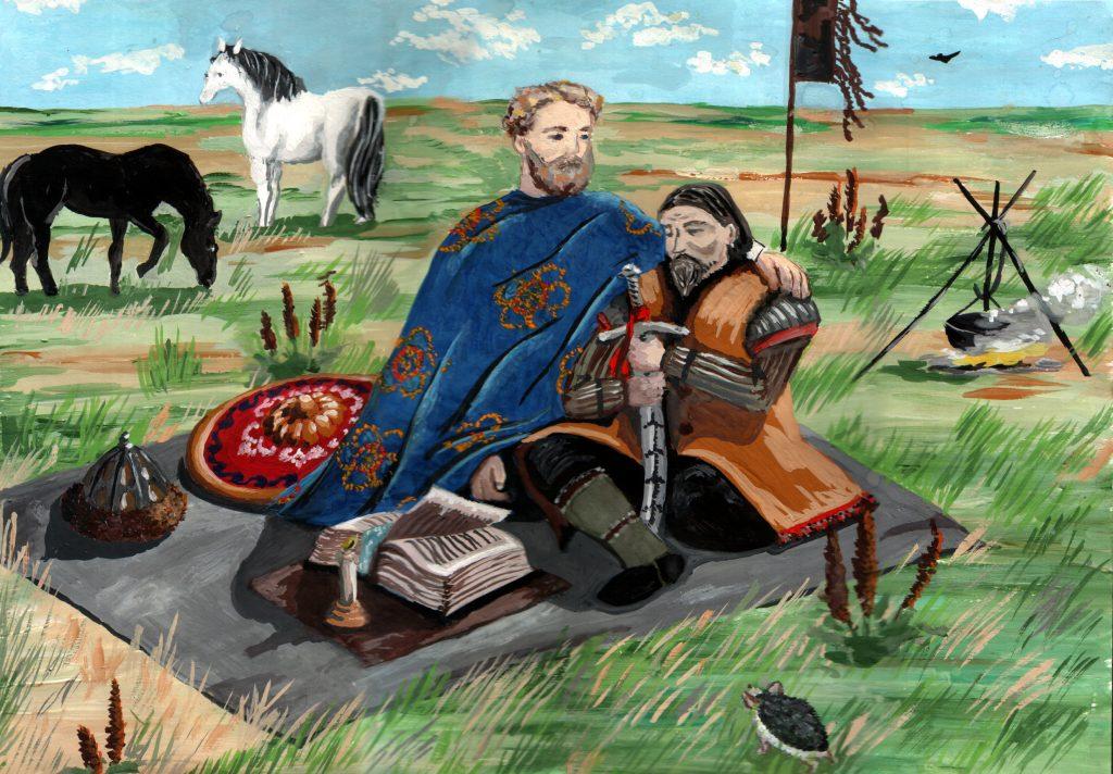 Мигалева Алиса, 14 лет, «Александр Невский и Сартак-сын Бату-хана»